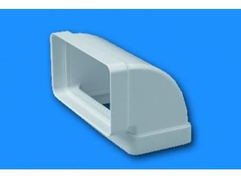 Codo ex/aire vert 110x55mm ign/aut termop bl sist 100 tubpla