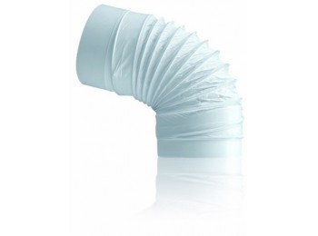 Codo ex/aire redondo flexible 120mm ign/aut pp bl sist 120 t