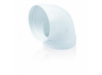 Codo ex/aire tubo redondo 90ºx120mm ign/aut pp bl sist 120 t