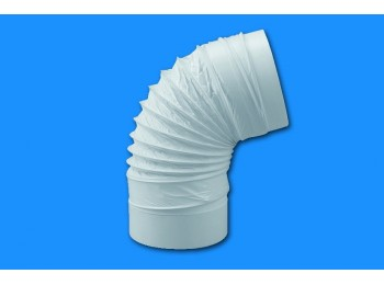 Codo ex/aire redondo flexible 100mmØ ign/aut termop bl sist
