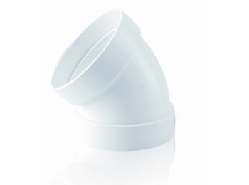 Codo ex/aire tubo redondo 45ºx120mm ign/aut pp bl sist 120 t