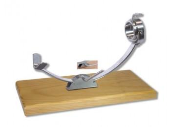 Jamonero horizontal corredera inox/madera balancin giratorio