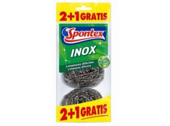 Estropajo limp 6,5cm inox spontex 3 pz