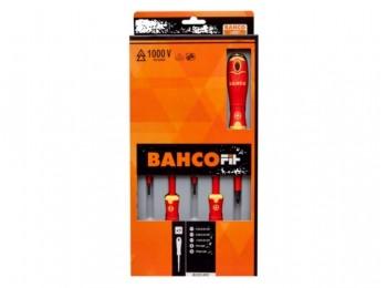 Destornillador aislado 3recta+ph1+ph2 m/bic bahco 5 pz