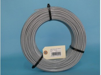 Cable acero galv 6x7+1 02mm recubierto pvc cursol 100 mt
