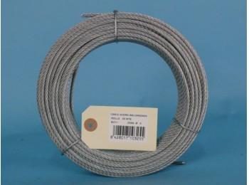 Cable acero galv 6x7+1 3mm cursol 25 mt
