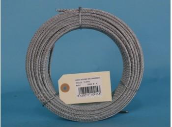 Cable acero galv 6x7+1 4mm cursol 15 mt
