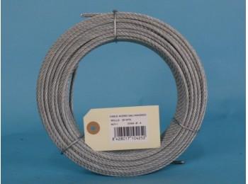 Cable acero galv 6x7+1 4mm cursol 25 mt