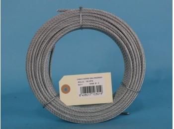 Cable acero galv 6x7+1 3mm cursol 100 mt