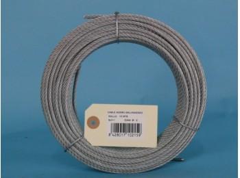Cable acero galv 6x7+1 2mm cursol 15 mt