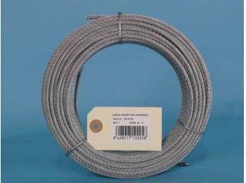 Cable acero galv 6x7+1 2mm cursol 25 mt