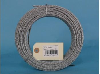 Cable acero galv 6x7+1 2mm cursol 100 mt