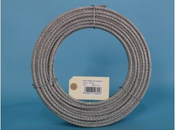 Cable acero galv 6x7+1 6mm cursol 25 mt