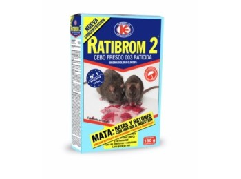 Raticida cebo fresco ratibrom-2 150 gr