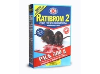Raticida cebo fresco ratibrom-2 d01.369 500 gr