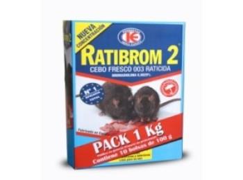 Raticida 10bol x 100gr cebo fresco ratibrom-2 d01.370 1 kg