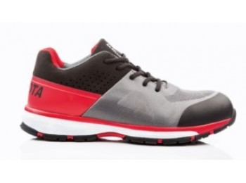 Zapato seg t43 s1p bellota microf negra/roja/gris running pu