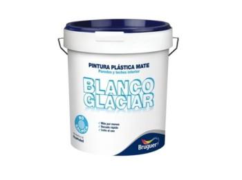 Pintura plast mate 15 lt bl int. glaciar bruguer