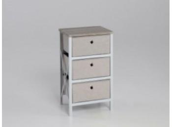 Cajonera orden 60x41x32cm armable madera / tela gr closet no