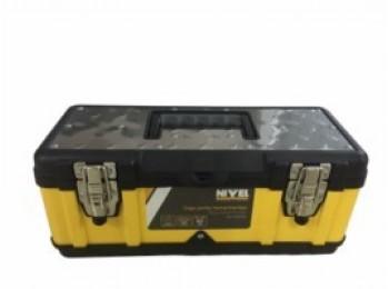 Caja herram 39,5x18x17cm c/met. in/pl 40 nivel