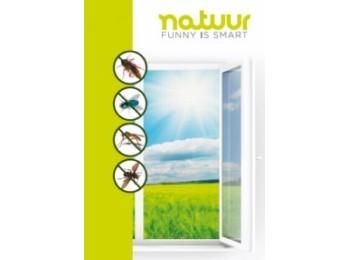 Malla mosq 130x150 cm ventanas natuur bl c/tex m/h nt95620