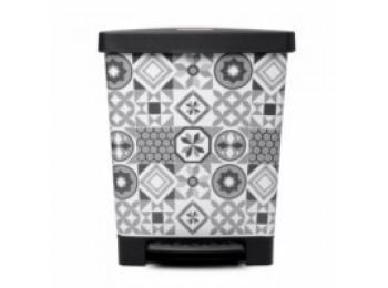 Cubo bas. recicl. 23l/390x300x335 c/pedal pl hidraulic tatay