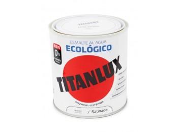 Esmalte acril sat. 250 ml bl al agua ecologico titanlux