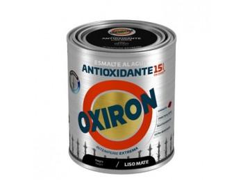 Esmalte antioxi. mate 750 ml ne ext. liso titan oxiron al ag