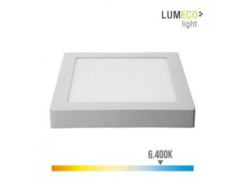 Foco ilumin 20w 1500lm 6400k  22,5x22x4cm downlight edm alu/
