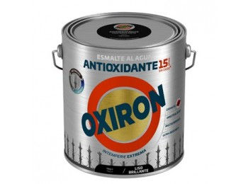 Esmalte antioxi. bri. 2,5 lt ne ext. liso titan oxiron al agua