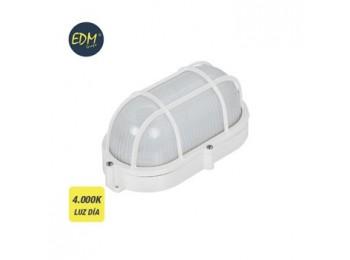Aplique ilumin 9w 810lm 4000k ip65 ext edm pl bl ov rej/plas
