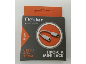 Cable multimedia tipo c a mini jack hembra usb 3.1 12,5cm de