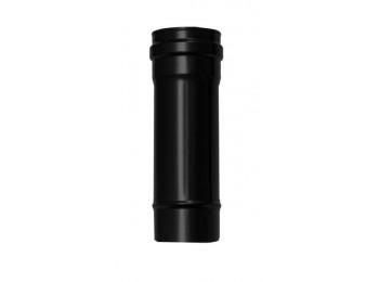 Tubo estufa pellet Ø80mmx25cm a/esm/vitr. ne exojo