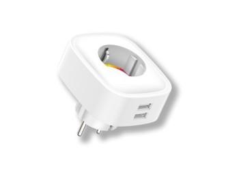 Enchufe wifi intel. energeeks pl bl 2usb eg-ew005mc