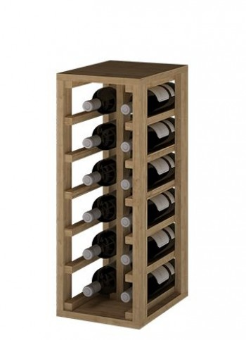 Expovinalia EX2010 botellero pino 12 botellas, roble claro, 58x24x32 cm