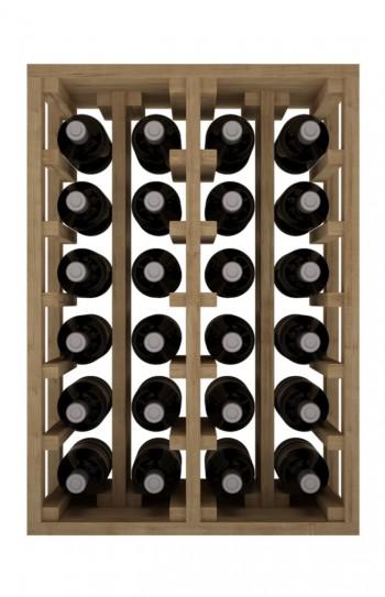 Expovinalia botellero pino 24 botellas roble claro, 46X64X32 CM