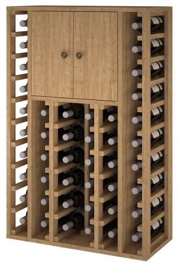 Expovinalia EX2515 botellero pino 46 botellas, serie godello, color roble claro