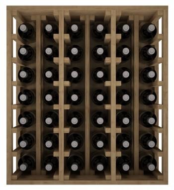Expovinalia EX2061  botellero pino 42 botellas, serie godello, color roble claro