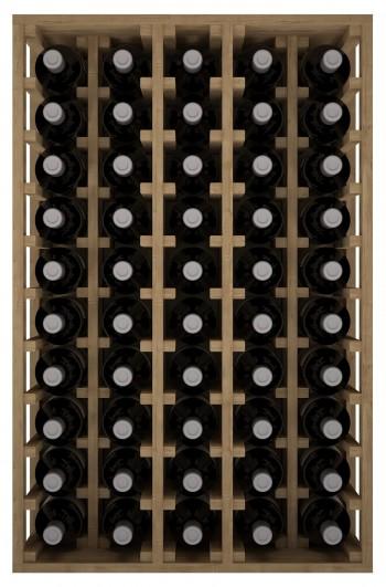 Expovinalia EX2066 botellero pino 50 botellas, serie godello, color roble claro