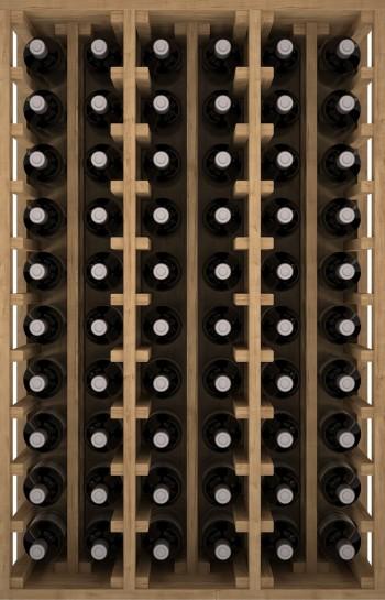 Expovinalia EX2060 botellero pino 60 botellas, serie godello, color roble claro