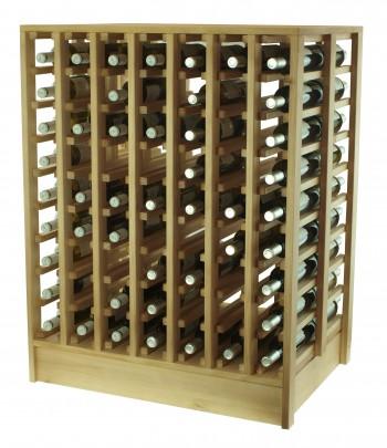 Expovinalia EX2067 botellero serie godello, 126 botellas, color roble claro