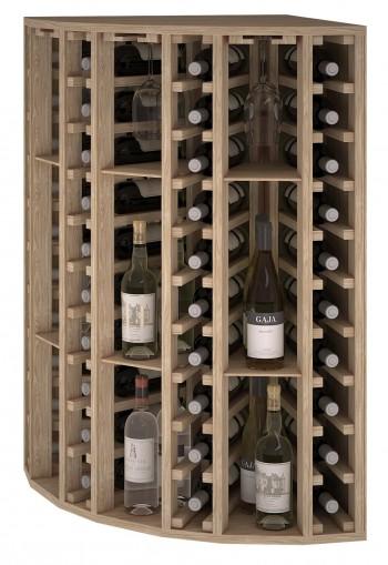 Expovinalia er2035 botellero rincón madera roble, 40 botellas, serie godello.