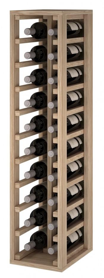 Expovinalia ER2032 botellero madera roble, 20 botellas, serie godello