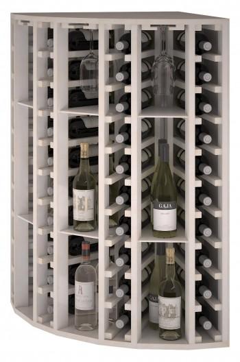 Expovinalia EW botellero pino color blanco, 40 botellas, serie godello,