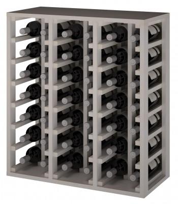 Expovinalia EW2061 botellero pino color blanco, 42 botellas, serie godello