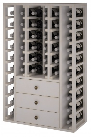 Expovinalia EW2511 botellero pino color blanco, 46 botellas, serie godello