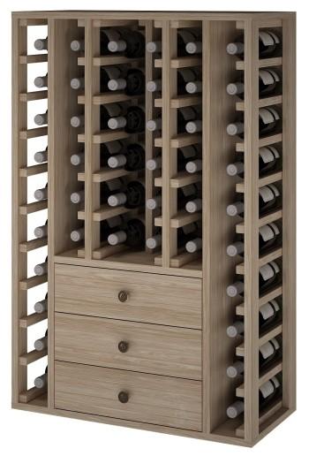 Expovinalia er2511 botellero madera roble, 46 botellas, serie godello,