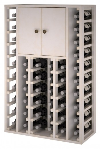 Expovinalia EW botellero pino color blanco, 46 botellas, serie godello,