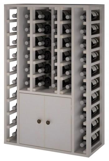 Expovinalia EW2516 botellero pino color blanco, 46 botellas, serie godello