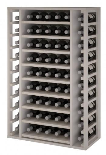 Expovinalia EW2540 botellero pino color blanco, 65 botellas, serie godello,